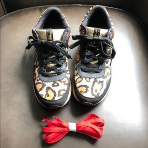 eab64fc80eff53 Sam Edelman Shoes - Sam Edelman Dax Leopard trainer sneaker gold 8